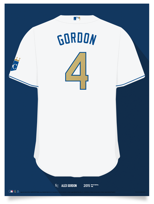 new style fa73a b8b66 Royals Alex Gordon Jersey Print