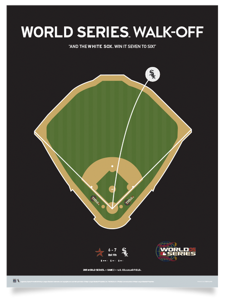 White Sox World Series Walk-Off Print