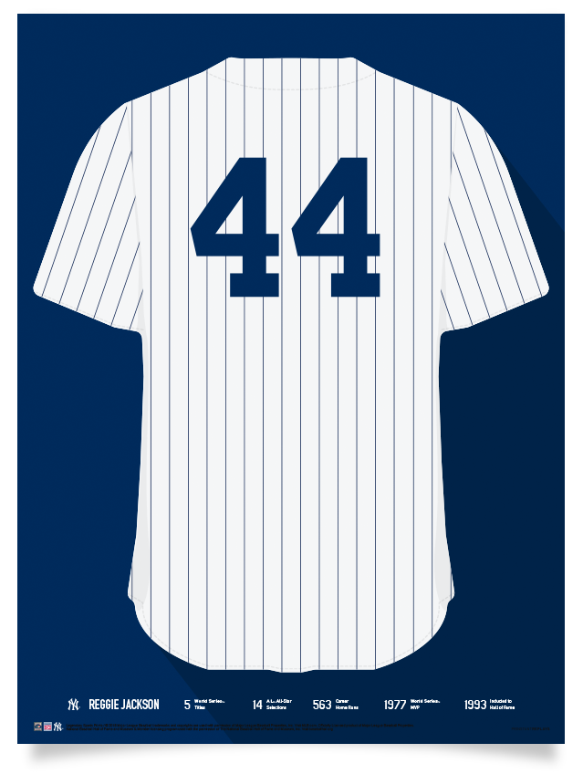 the latest 88101 5c4ed Yankees Reggie Jackson Jersey Print