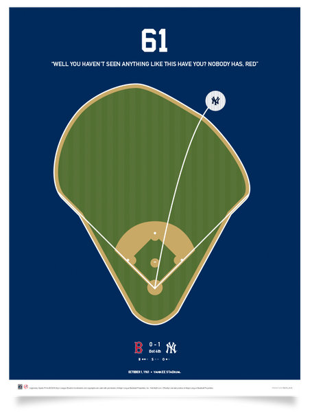 Yankees Maris 61 Home Run Print