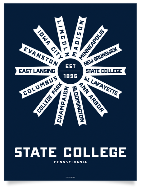 State College, Pennsylvania Print
