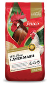 Jenco 18% FIne Layer Mash 20kg at Buckhams General Produce