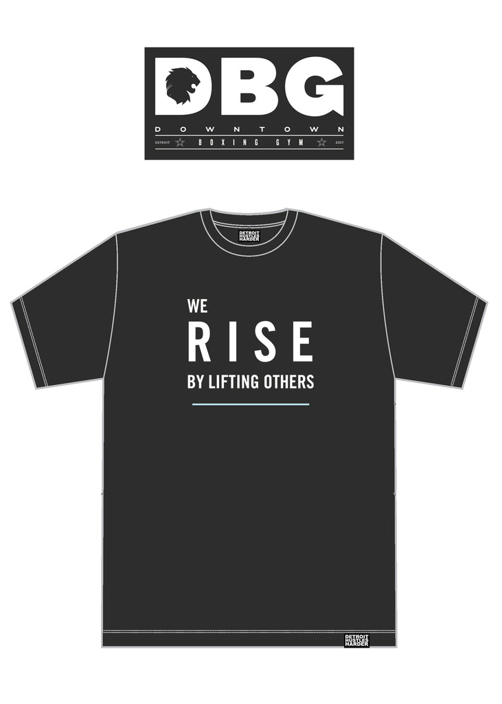 DBG Rise, T-SHIRT, Downtown Boxing Gym - DETROIT HUSTLES HARDER®