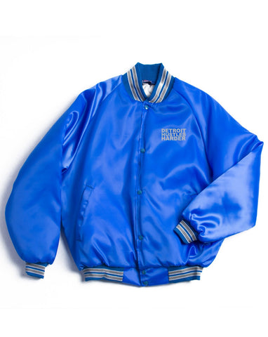Classic Logo Satin Jacket, Jacket, DETROIT HUSTLES HARDER® - DETROIT HUSTLES HARDER®