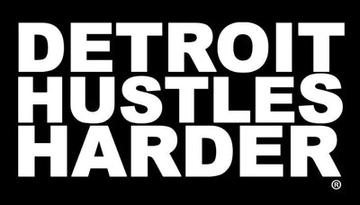 DETROIT HUSTLES HARDER® Vinyl Sticker, Vinyl Stickers, DETROIT HUSTLES HARDER® - DETROIT HUSTLES HARDER®