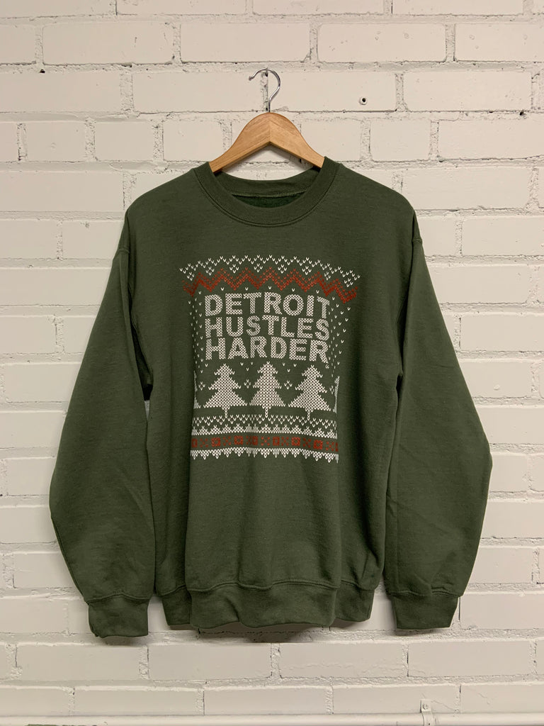 Ugly Sweater, Sweatshirt, DETROIT HUSTLES HARDER® - DETROIT HUSTLES HARDER®