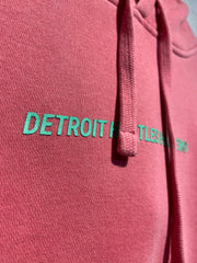 Typeset Logo Midweight Pigment Dyed Pullover Hoodie