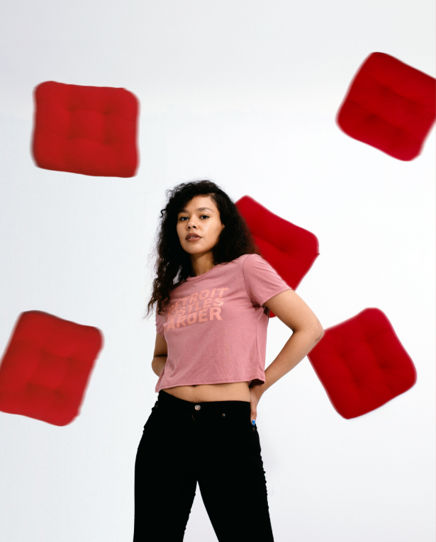Crop Tee Mauve Print, Crop Top, DETROIT HUSTLES HARDER® - DETROIT HUSTLES HARDER®