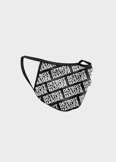 All-Over Print Reusable Cotton Face-mask, Face mask, DETROIT HUSTLES HARDER® - DETROIT HUSTLES HARDER®