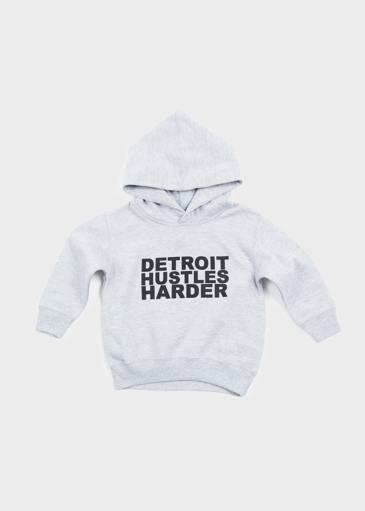 Toddler/Youth Hooded Pullover Black Print
