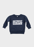 Toddler Crewneck Sweatshirt, Sweatshirt, DETROIT HUSTLES HARDER® - DETROIT HUSTLES HARDER®