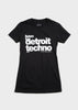Listen to Detroit Techno Short Sleeve T-Shirt, T-SHIRT, Movement - DETROIT HUSTLES HARDER®