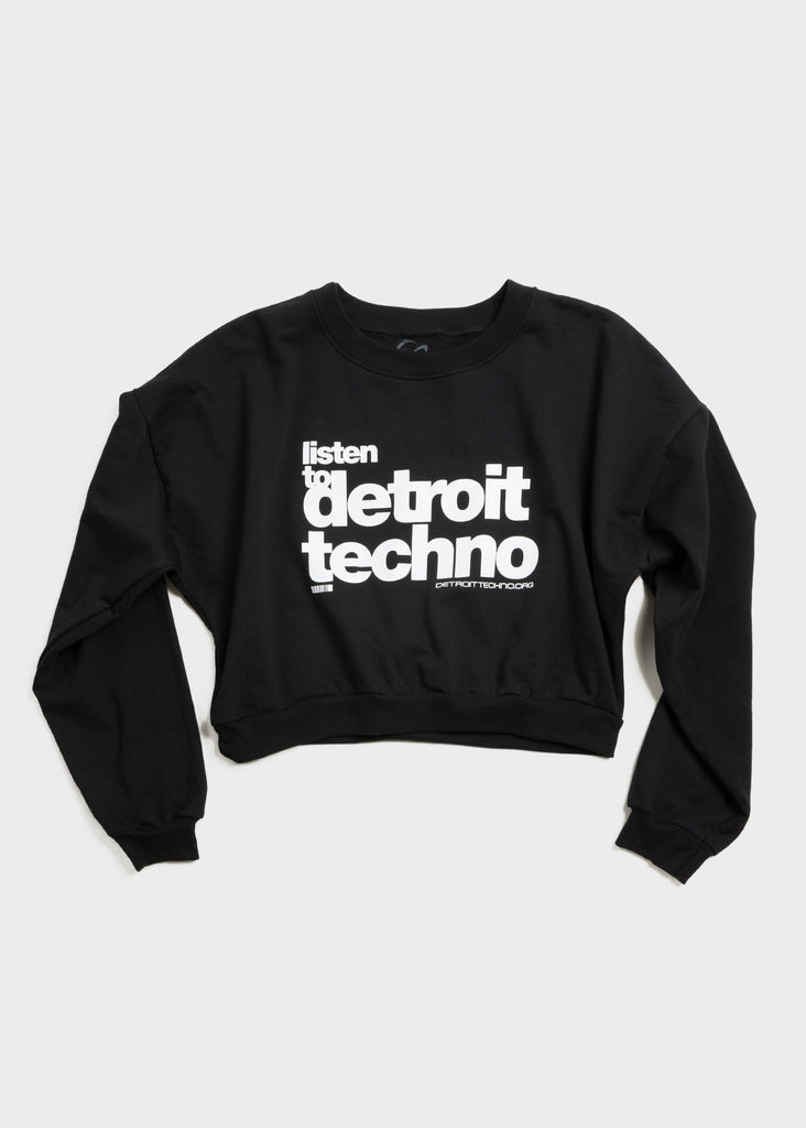 Listen to Detroit Techno Cropped Crewneck Sweatshirt, Cropped Sweatshirt, Movement - DETROIT HUSTLES HARDER®