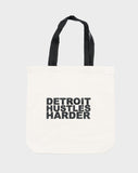 DETROIT HUSTLES HARDER® Canvas Tote Bag, Tote Bag, DETROIT HUSTLES HARDER® - DETROIT HUSTLES HARDER®