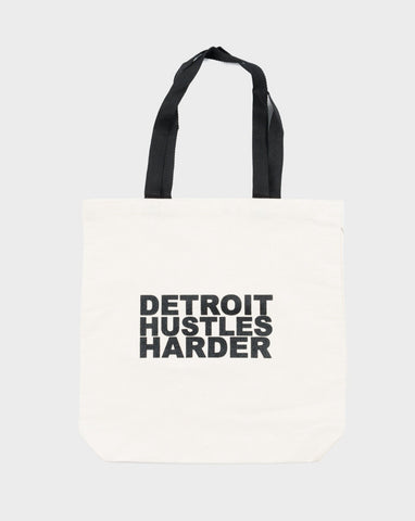 DETROIT HUSTLES HARDER® Drinking Glass