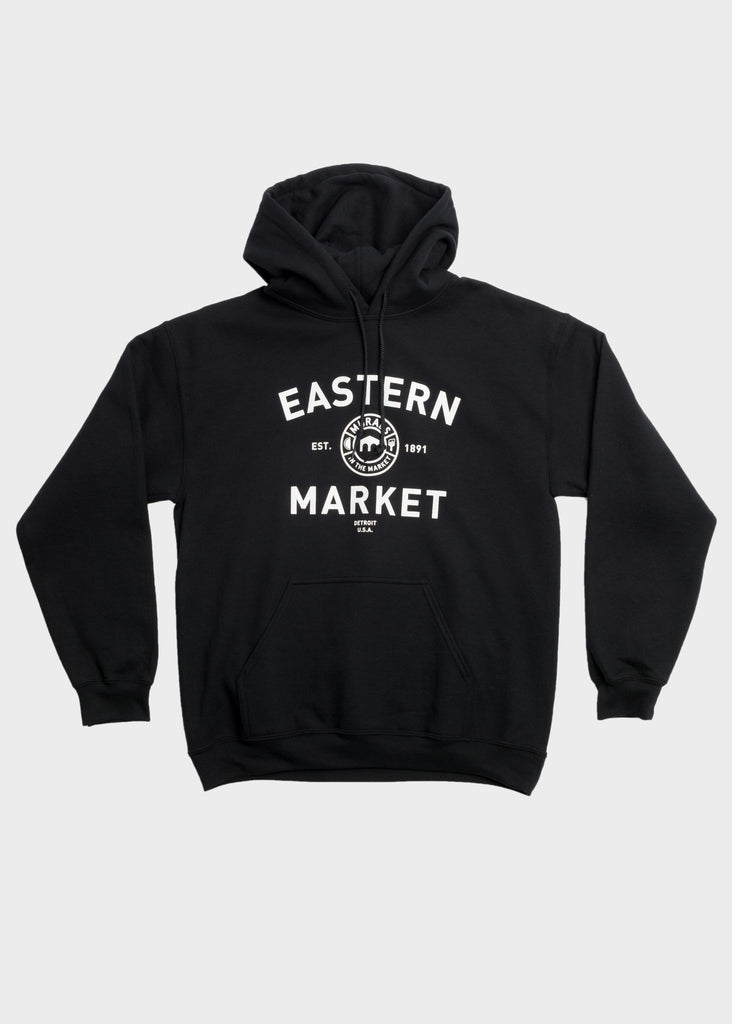 Fleece Pullover Hoodie Gary Design, Sweatshirt, Murals in the Market - DETROIT HUSTLES HARDER®