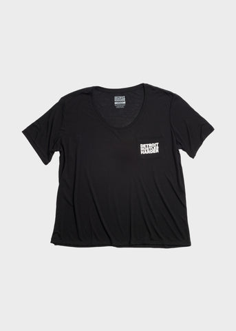 Flowy Pocket Tee Black Print