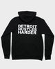 Flex Fleece Zip Hoodie White Print, Sweatshirt, DETROIT HUSTLES HARDER® - DETROIT HUSTLES HARDER®