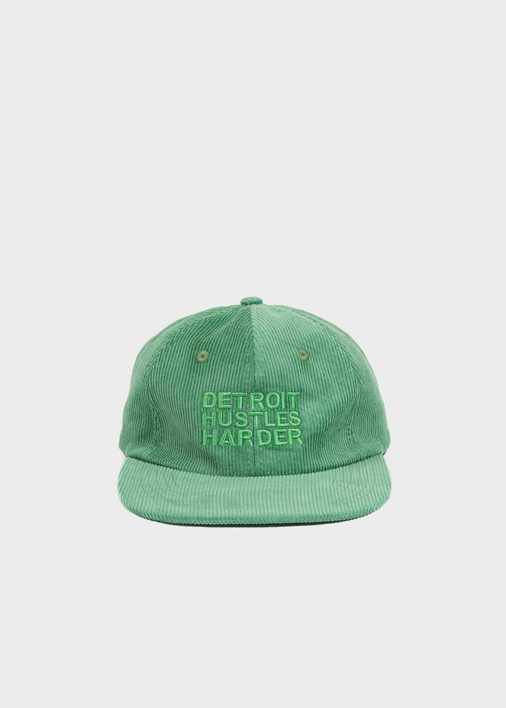 Mint Corduroy Unconstructed 6 Panel Hat, Headwear, DETROIT HUSTLES HARDER® - DETROIT HUSTLES HARDER®