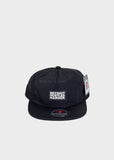 5-Panel Black Hat, Headwear, DETROIT HUSTLES HARDER® - DETROIT HUSTLES HARDER®