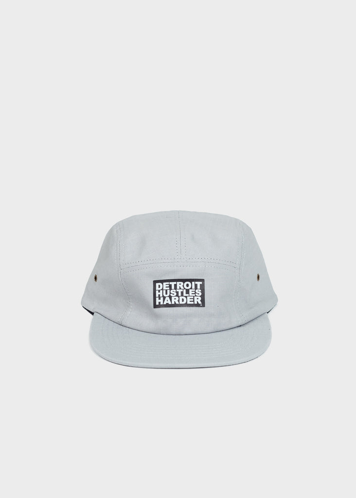 5-Panel Light Grey Hat, Headwear, DETROIT HUSTLES HARDER® - DETROIT HUSTLES HARDER®