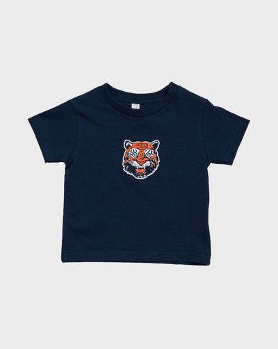Toddler Tiger Face Short Sleeve T-Shirt, T-SHIRT, DETROIT HUSTLES HARDER® - DETROIT HUSTLES HARDER®