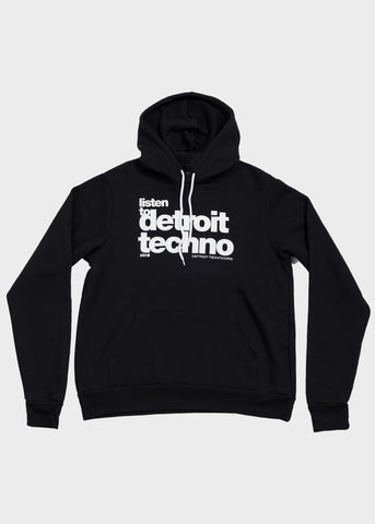 Listen to Detroit Techno Pullover Hoodie, Sweatshirt, Movement - DETROIT HUSTLES HARDER®
