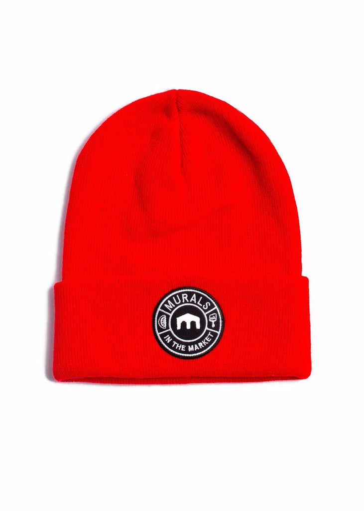 MITM Patch Knit Cuff Beanie, Headwear, Murals in the Market - DETROIT HUSTLES HARDER®