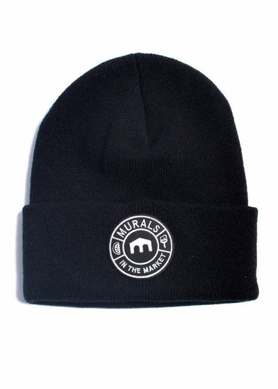 Knit Cuff Beanie MITM Patch Design, Headwear, Murals in the Market - DETROIT HUSTLES HARDER®