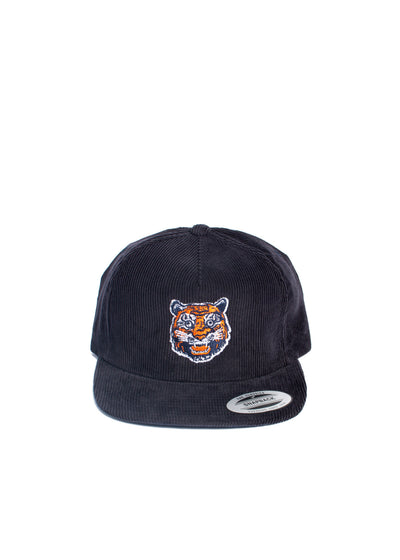 6-Panel Corduroy Snapback Tiger Face Design, Headwear, DETROIT HUSTLES HARDER® - DETROIT HUSTLES HARDER®