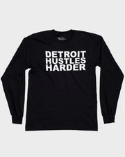 Long Sleeve Classic Logo, Long Sleeve, DETROIT HUSTLES HARDER® - DETROIT HUSTLES HARDER®