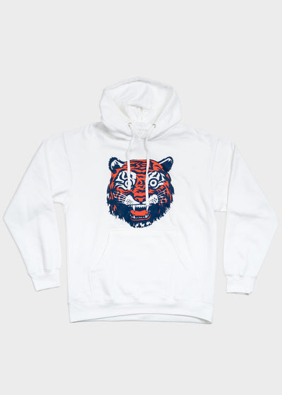 Tiger Face Midweight Pullover Sweatshirt, , DETROIT HUSTLES HARDER® - DETROIT HUSTLES HARDER®