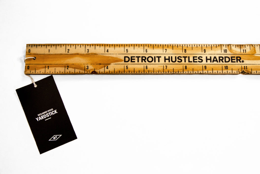 "DETROIT HUSTLES HARDER® Yard Stick 36"", Yard Stick, Woodward Throwbacks - DETROIT HUSTLES HARDER®"