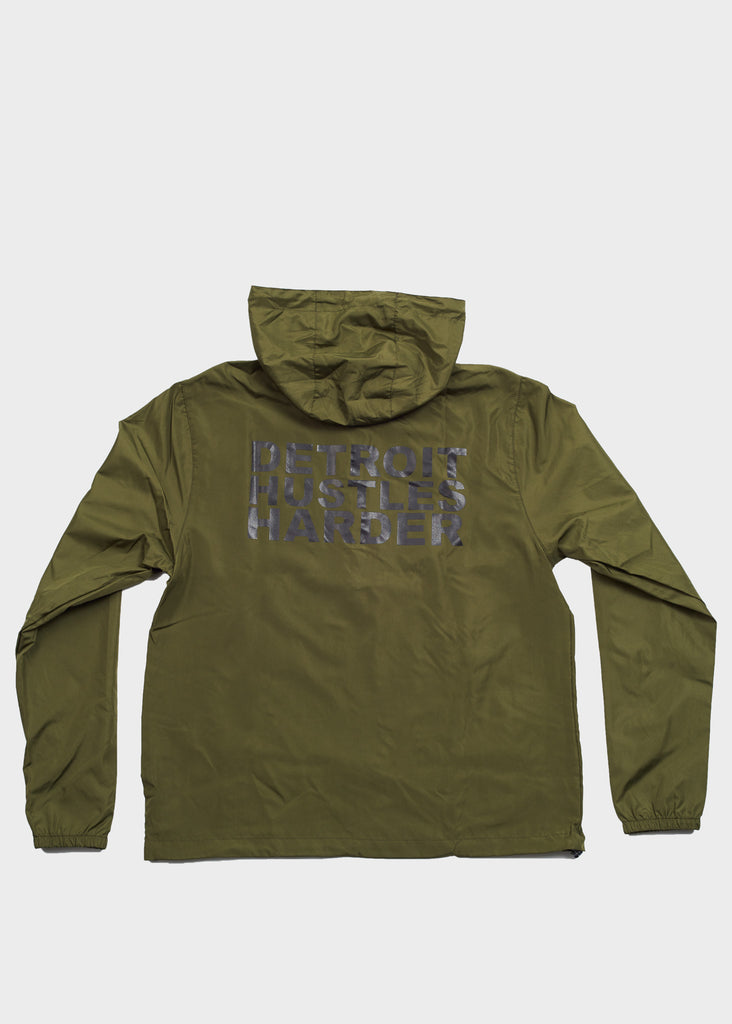 Lightweight Pullover Windbreaker Anorak Jacket, Jacket, DETROIT HUSTLES HARDER® - DETROIT HUSTLES HARDER®