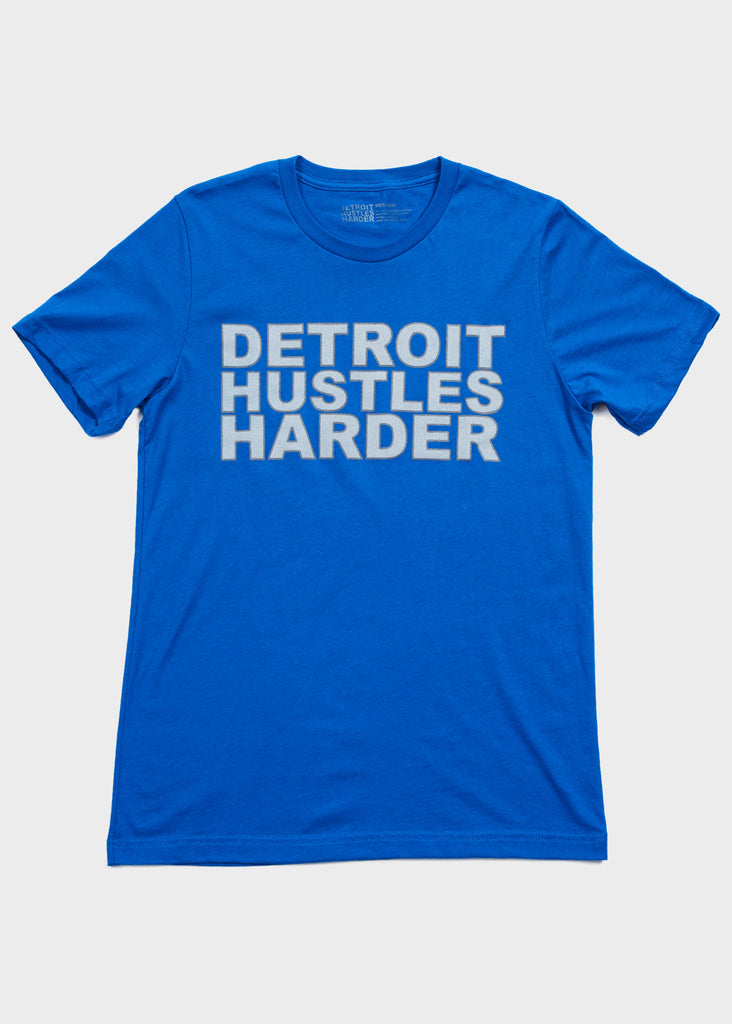Classic Logo Outline Tee, T-SHIRT, DETROIT HUSTLES HARDER® - DETROIT HUSTLES HARDER®