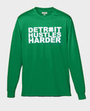 St. Patrick's Day Edition Long Sleeve T-Shirt, Long Sleeve, DETROIT HUSTLES HARDER® - DETROIT HUSTLES HARDER®