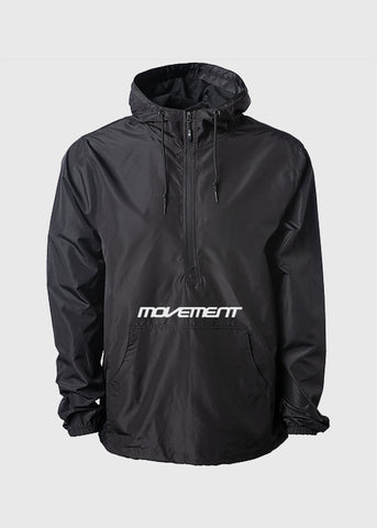 Movement Text Logo Water Resistant Windbreaker Pullover Anorak