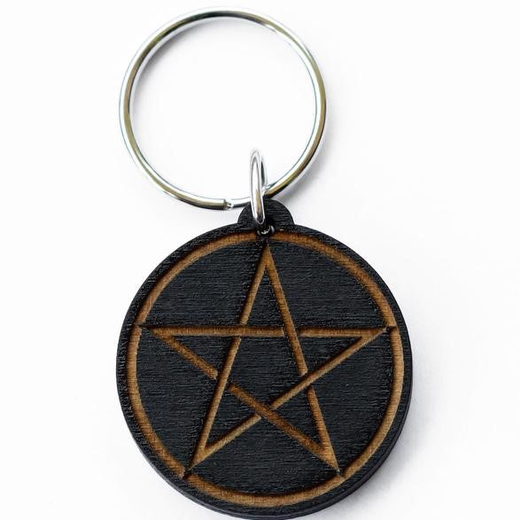 Pentagram Key Chain