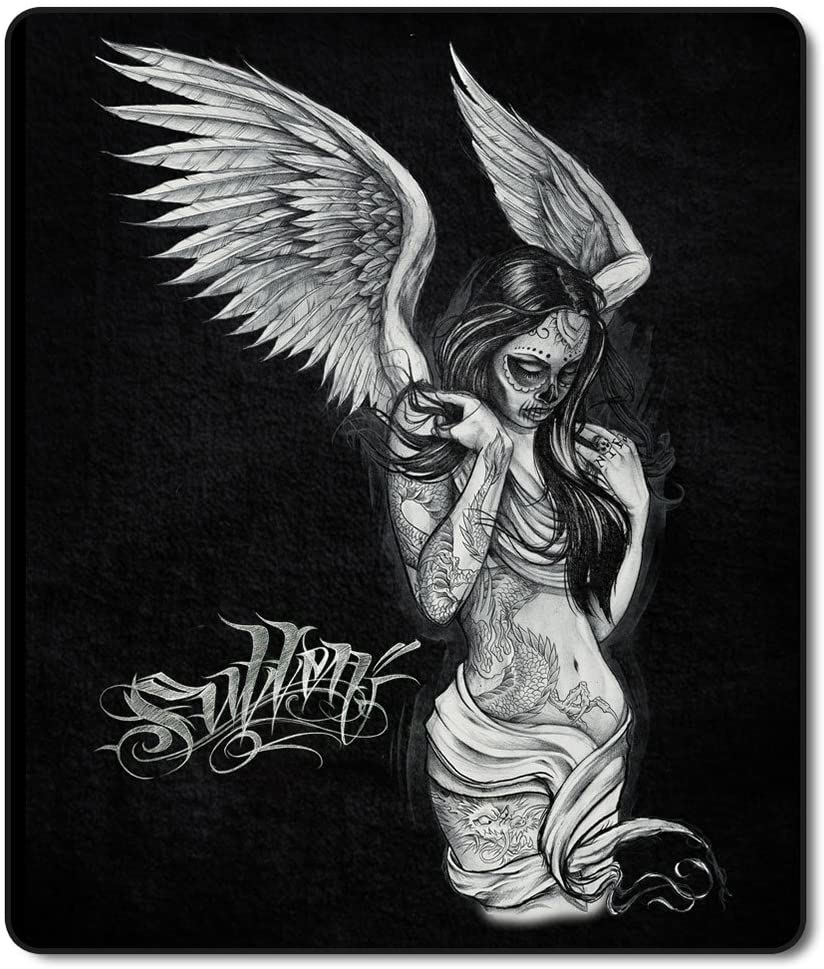 Sullen Fallen Angel Sherpa Throw