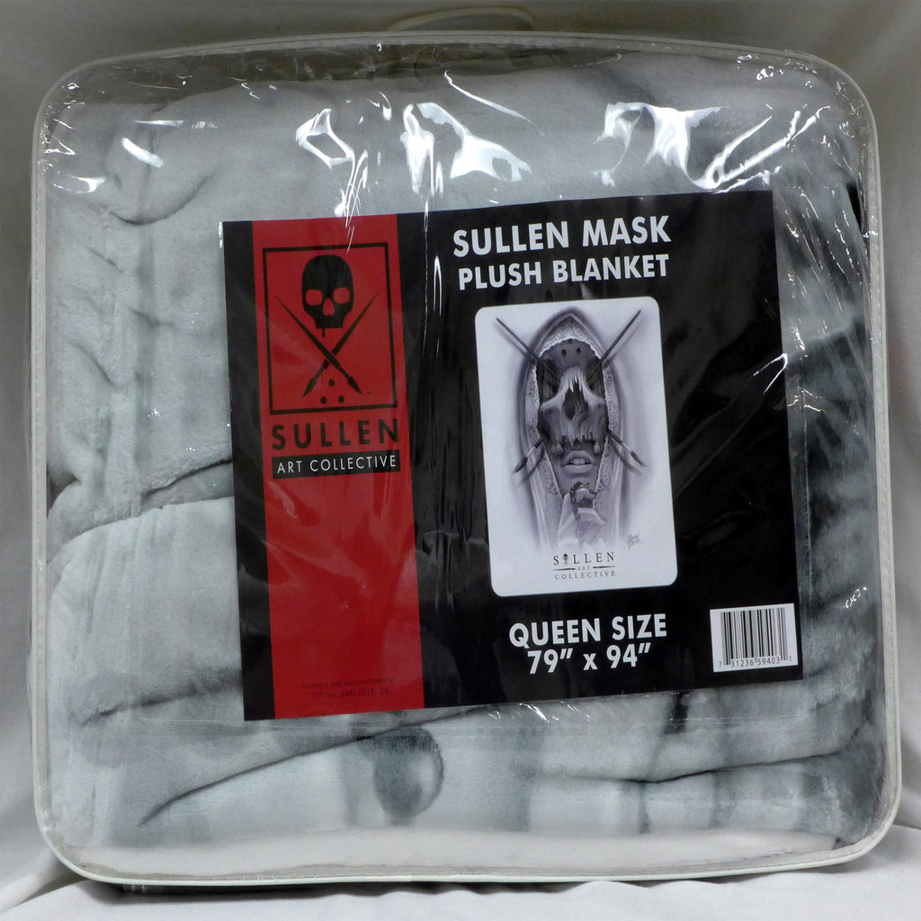 Sullen Mask White Queen Blanket