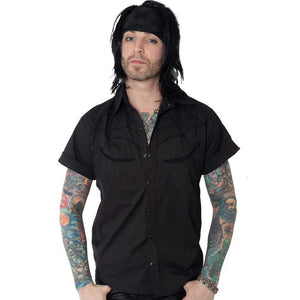 Spiderweb Western Shirt Black