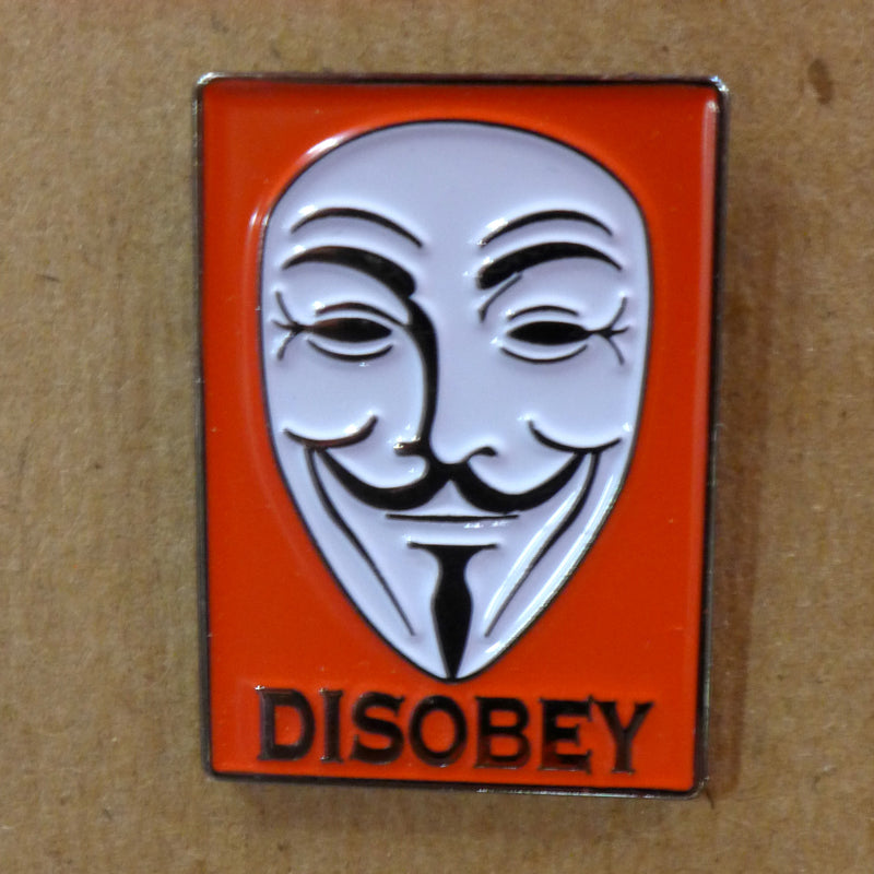 Disobey Guy Fawkes Enamel Pin
