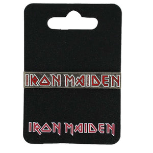 Iron Maiden Logo on Silver Enamel Pin