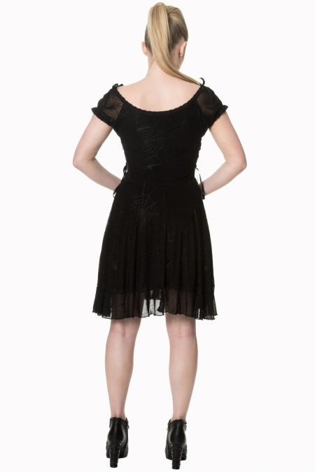 Pitch Black Dress (Spiderweb)