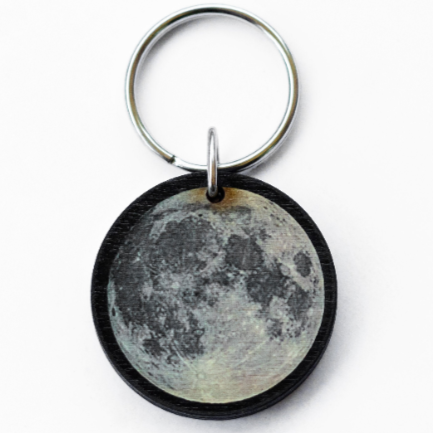 Full Moon Key Chain
