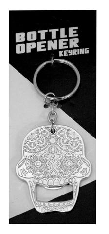 Candy Skull Bottle Opener Key Chain