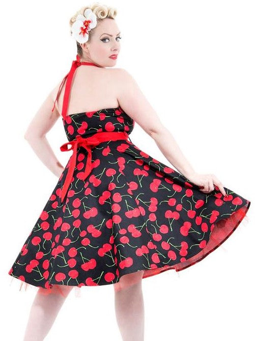 Cherry Halter Dress