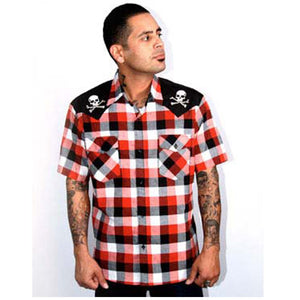 Chaos Western Red/Black Plaid
