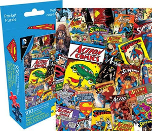 Superman Collage Pocket Puzzle