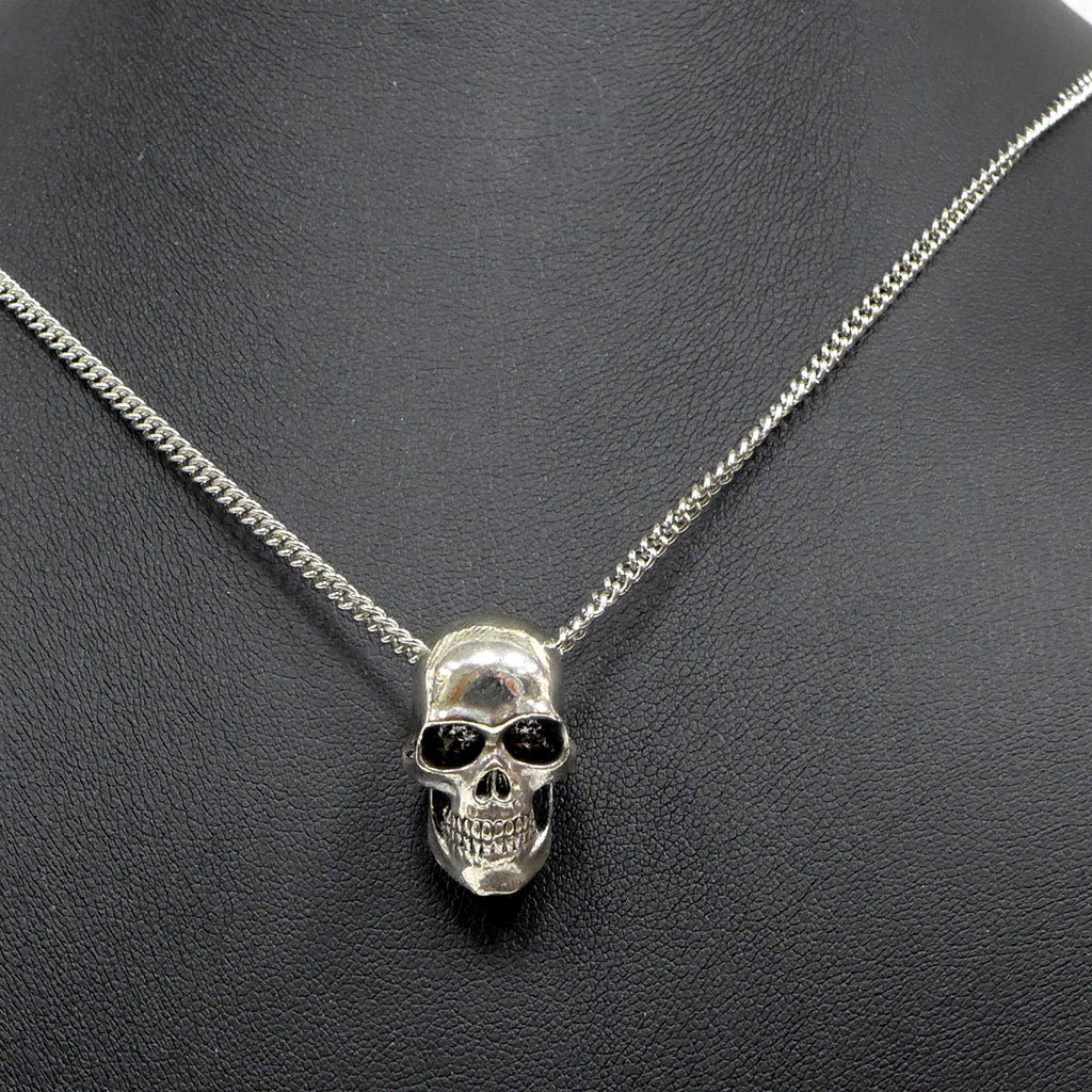 Solid Skull Small 3D Necklace